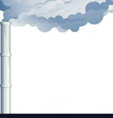 White colour industrial chimney.