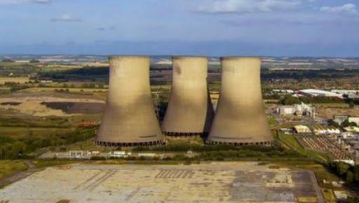 3 big industrial chimney.