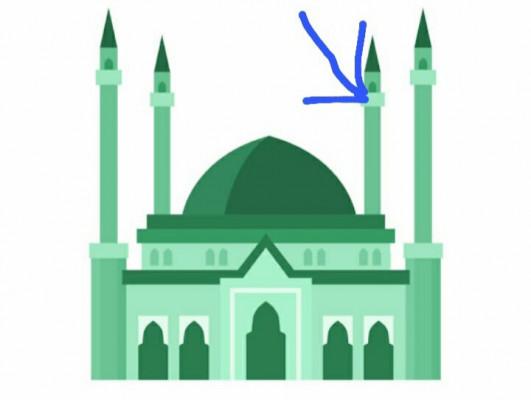 Green colour masjid