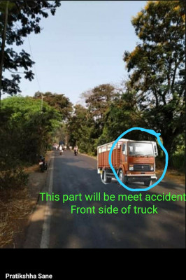 This part will bemeet accident Front side of truck